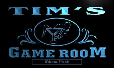 x0174-tm Tims Game Room Cocktail Lounge Custom Personalized Name Neon Sign Wholesale Dropshipping On/Off Switch 7 Colors DHL