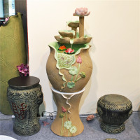 The new Chinese water fish tank water fountain home decorations crafts ornaments Lucky hotel beauty Museum