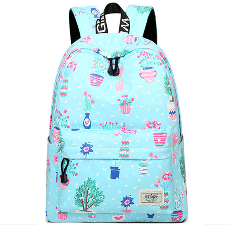 Casual Fashion Waterproof Women Backpack Flower Printing Large Capacity Travel School Bookbag College Bag for Gril