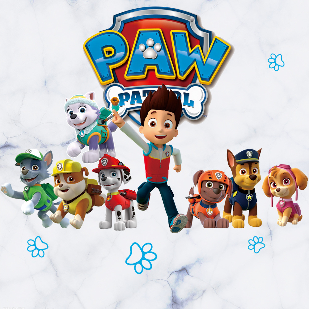 PAW PATROL 3D Cartoon Patrol Anime Wall Sticker Bedroom Children Anime Wall Sticker Toy Kids  3d Anime Stickers Toy For Children