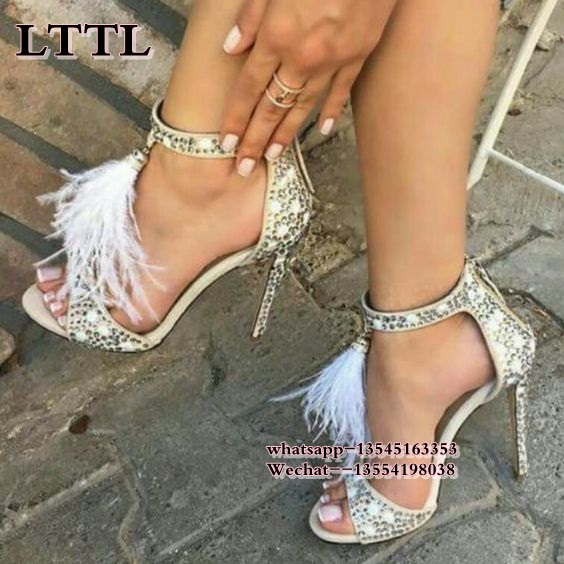 New 2017 White Suede Crystal Embellished Sandals Feather Tassel Gladiator Sandals Women Shoes High Heels Pumps Ladies Stiletto накладные наушники monster dna on ear headphones carbon black