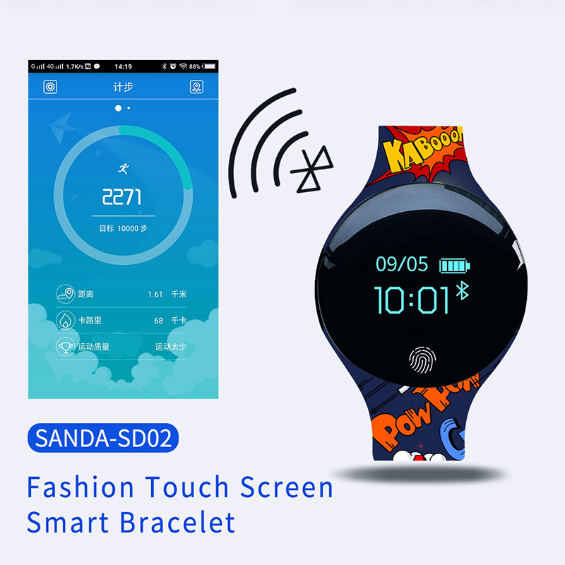 SANDA Sport Smart Watch Pedometer IP65 Waterproof Fitness Tracker Call Reminder Sport Bracelet Smartwatch Connect Android IOS