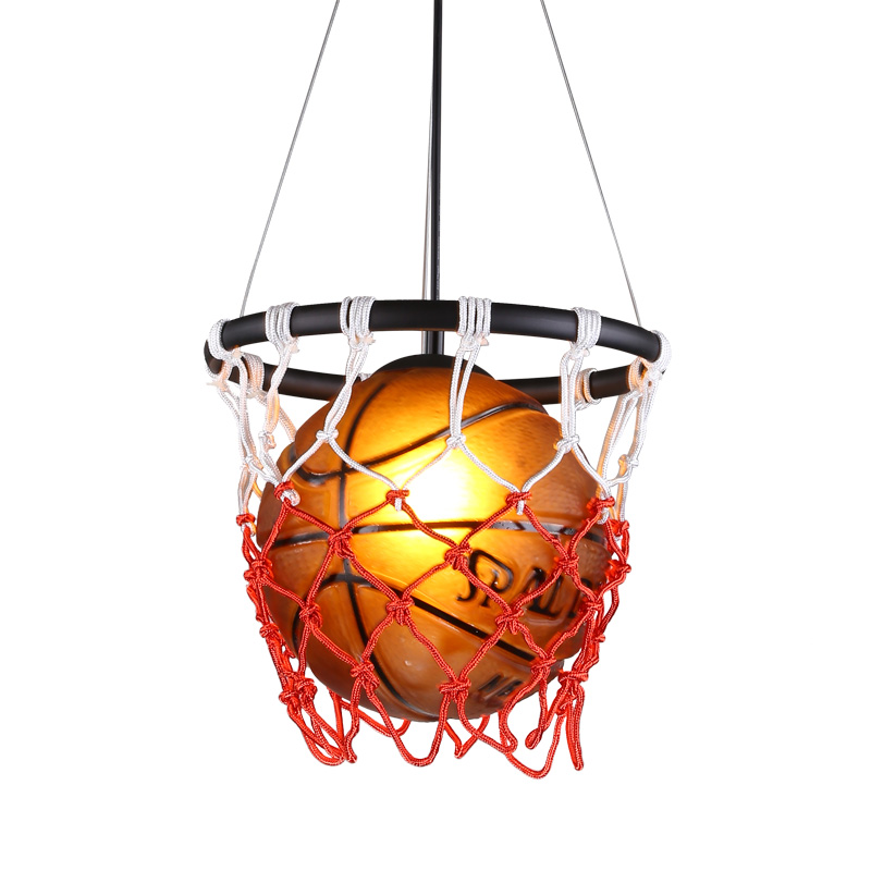 Us 109 64 28 Off American Basketball Pendant Light Diy Personality Children Room Bedroom Led Lamp Vintage Wine Bar Sports Market Lamps E27 Bulb In