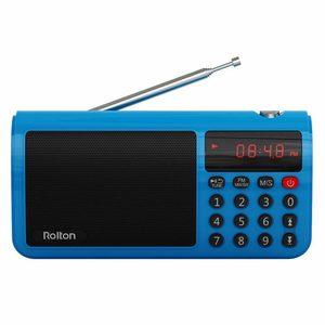 Image 2 - Rolton T50 TF כרטיס רמקול נייד העולם בנד רדיו FM/AM/SW Mp3 רמקול מוסיקת WAV נגן פנס למחשב iPod טור