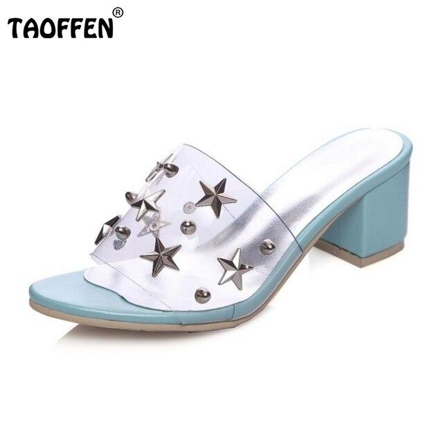 Taoffen donne tacchi alti sandali con toe tacco quadrato open toe con   e25779