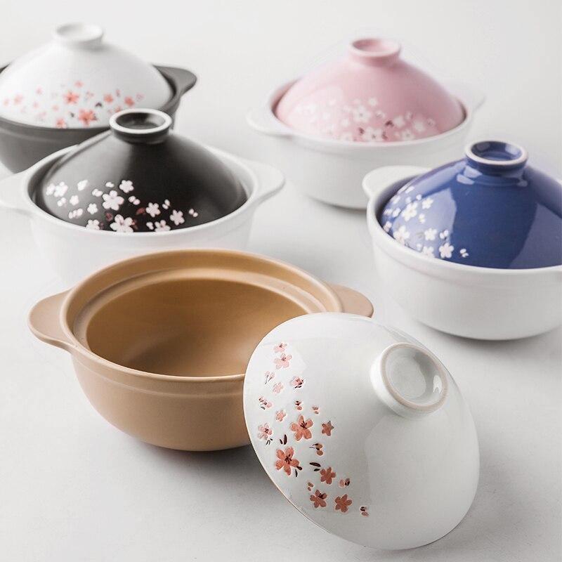 OUSSIRRO High temperature gas ceramic casserole soup pot Claypot rice Ceramic tableware Kitchenware L2077