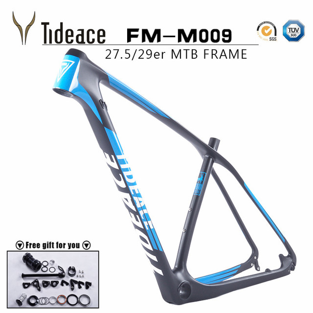tideace 29mountain bike mtb frame 275er full carbon fiber cycling frame size - Mountain Bike Frame Size
