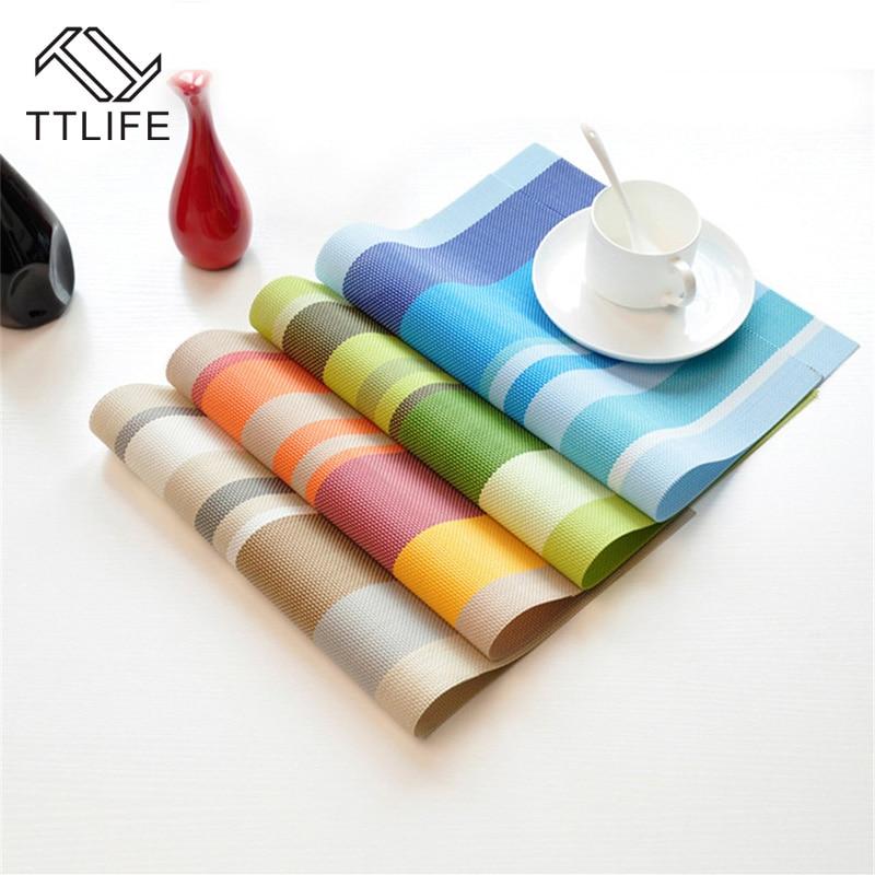 TTLIFE 1pcs European Minimalist Style Waterproof Insulation Placemat Tasteless Pvc Cup Mat Coaster Tableware Mat