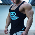 New Arrival GymShark Stringer Tank Top Men shark Bodybuilding Fitness Men's Singlets Tank Shirts Clothes Cotton Free shipping