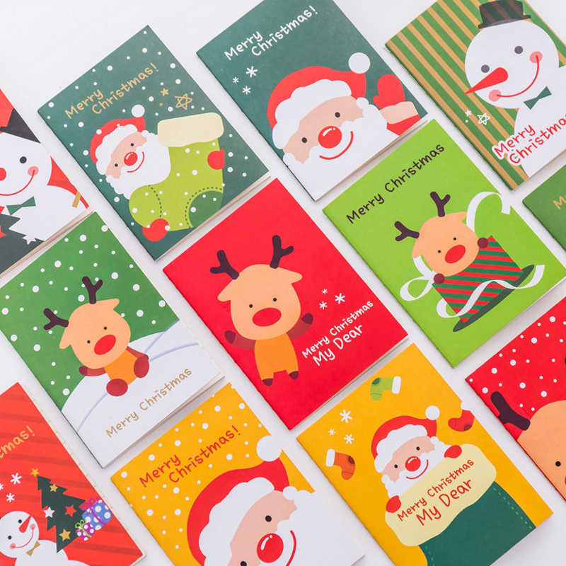 1pcs/lot Kawaii Merry Christmas Pocket Notebook Cute Agenda Memo Pad Best Christmas Gifts For Children Stationery