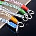 Универсальный Портативный 2 в 1 Данных USB Зарядный Кабель Брелок Usb Кабель 15 см шнур для Samsung HTC iPhone 5 5s 6 6 s 6 плюс 7 Плюс 7