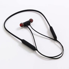 Smart Bluetooth earphone Ear-hook noise reduction waterproof headset metal magnetic material super bass stereo HD call headphone