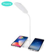 Wireless Charging For 2 Phones Luminaria Chargeur Induction Table Lamp Desk Dual Charger Samsung Galaxy s10 iPhoneX