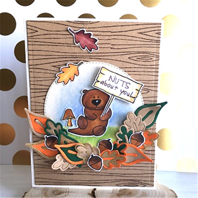 YaMinSanNiO Nuts Bear Die Stamp Sets and Dies 2019 for Card Making Scrapbooking Album Embossing Paper Craft with