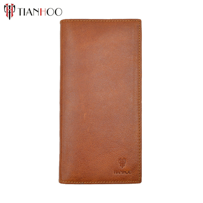 Tianhoo Simple Women Wallet Ultra Thin Genuine Leather Women Long Purse Clutch Lady Wallet Phone Photo Dollar Holder dollar price new european and american ultra thin leather purse large zip clutch oil wax leather wallet portefeuille femme cuir