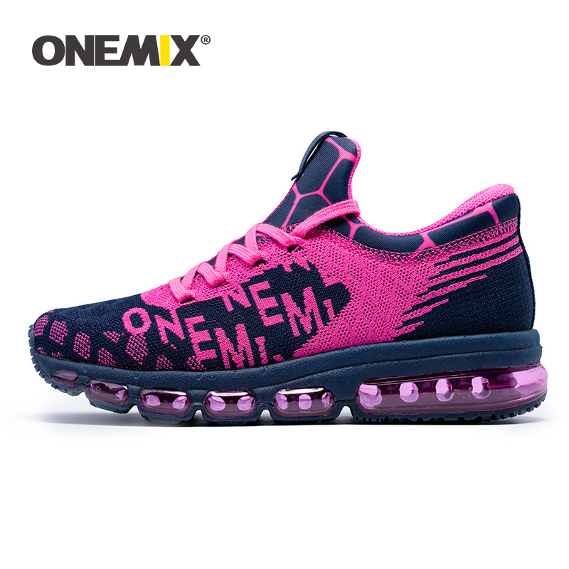 ONEMIX Woman Running Shoes Fashion Trend High Top Air Cushion Footwear Outdoor Athletic Training Tennis shoe