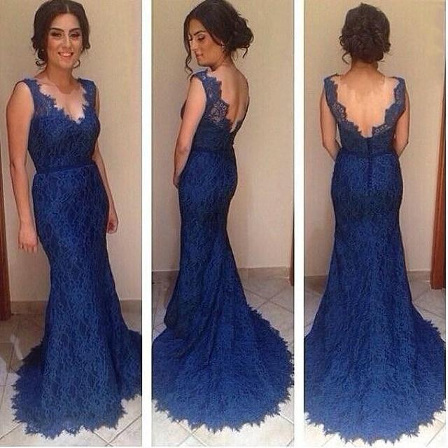 Vestido de festa azul aliexpress