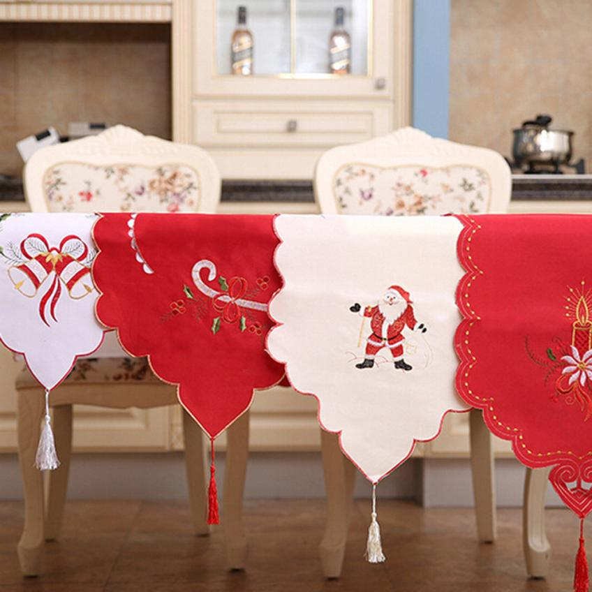 2018 NEW Christmas Table Runner Dresser Tapestry Dining Restaurant Party Decor Free Shipping DE19