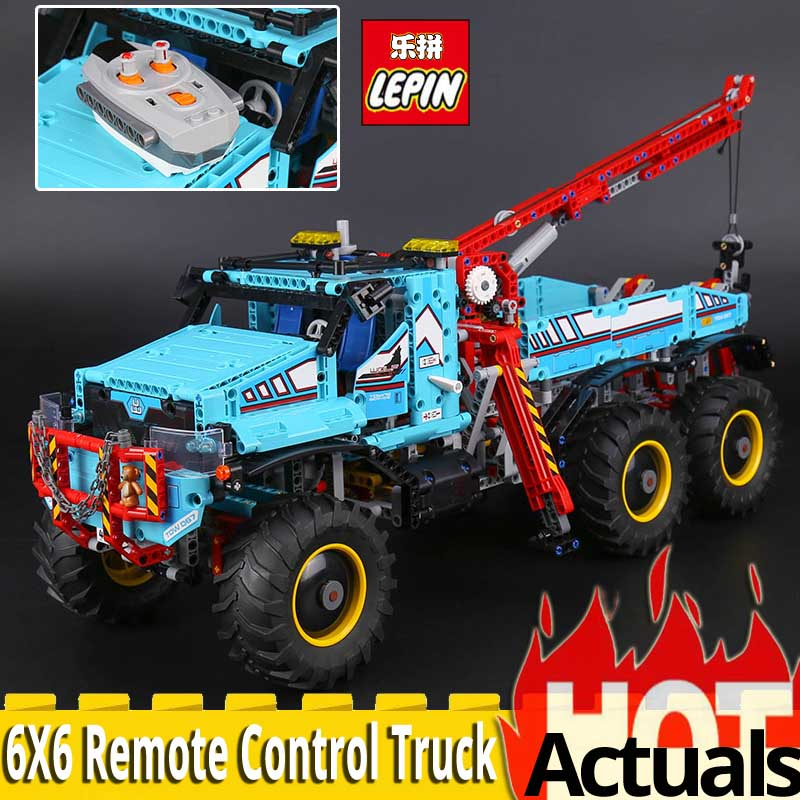 Lepin Technic Series 20056 The Ultimate All Terrain 6X6 Remote Control Truck Model Set Building Blocks Bricks Toys for Children 20030 technic ultimate series the off roader set children building blocks brick toy model gifts competible with legoingly 8297