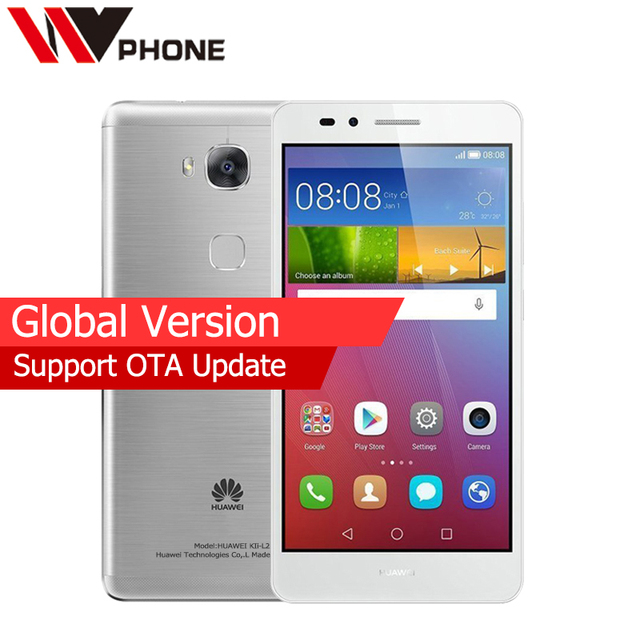 Original Huawei GR5 Global Version 2G RAM 16G ROM 4G Mobile Phone MSM8939 Octa Core Rear 13.0MP 3000mAh Fingerprint ID