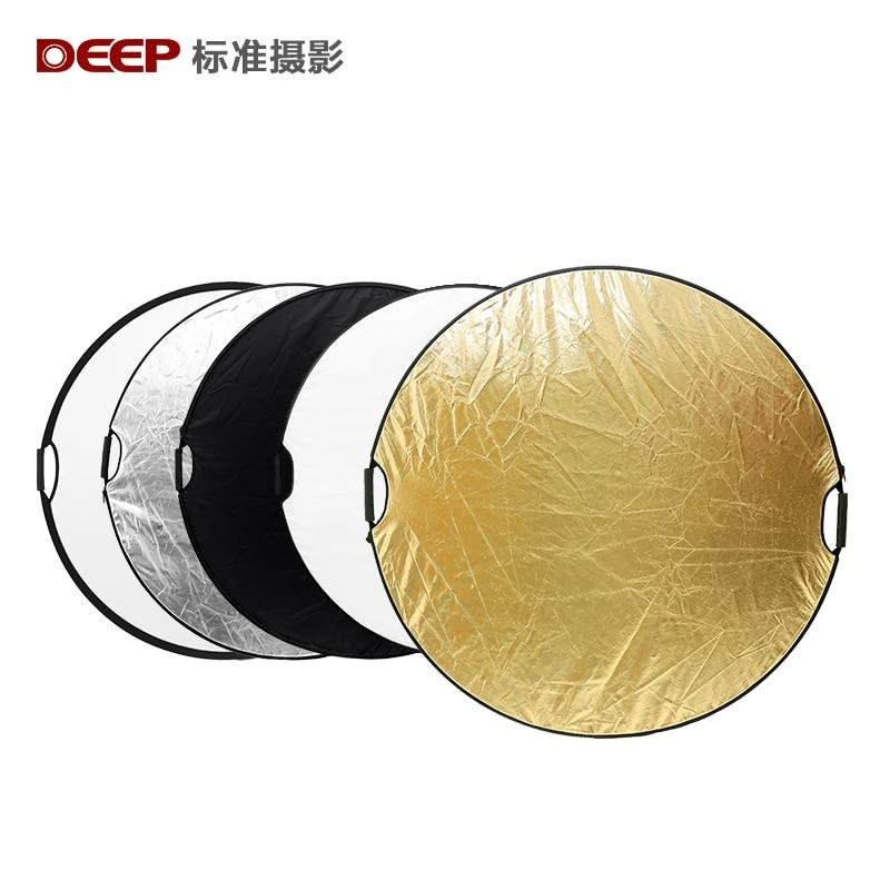 Deep 43-inch / 110cm 5-in-1 Multi-Disc Light Reflector dilipat dengan - Kamera dan foto