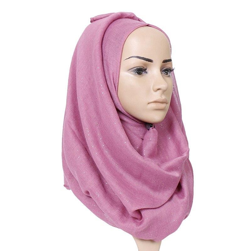 Muslim Headscarf Classic Women Bali Yarn Scarf Golden Silk High Quality Ladies Shawl