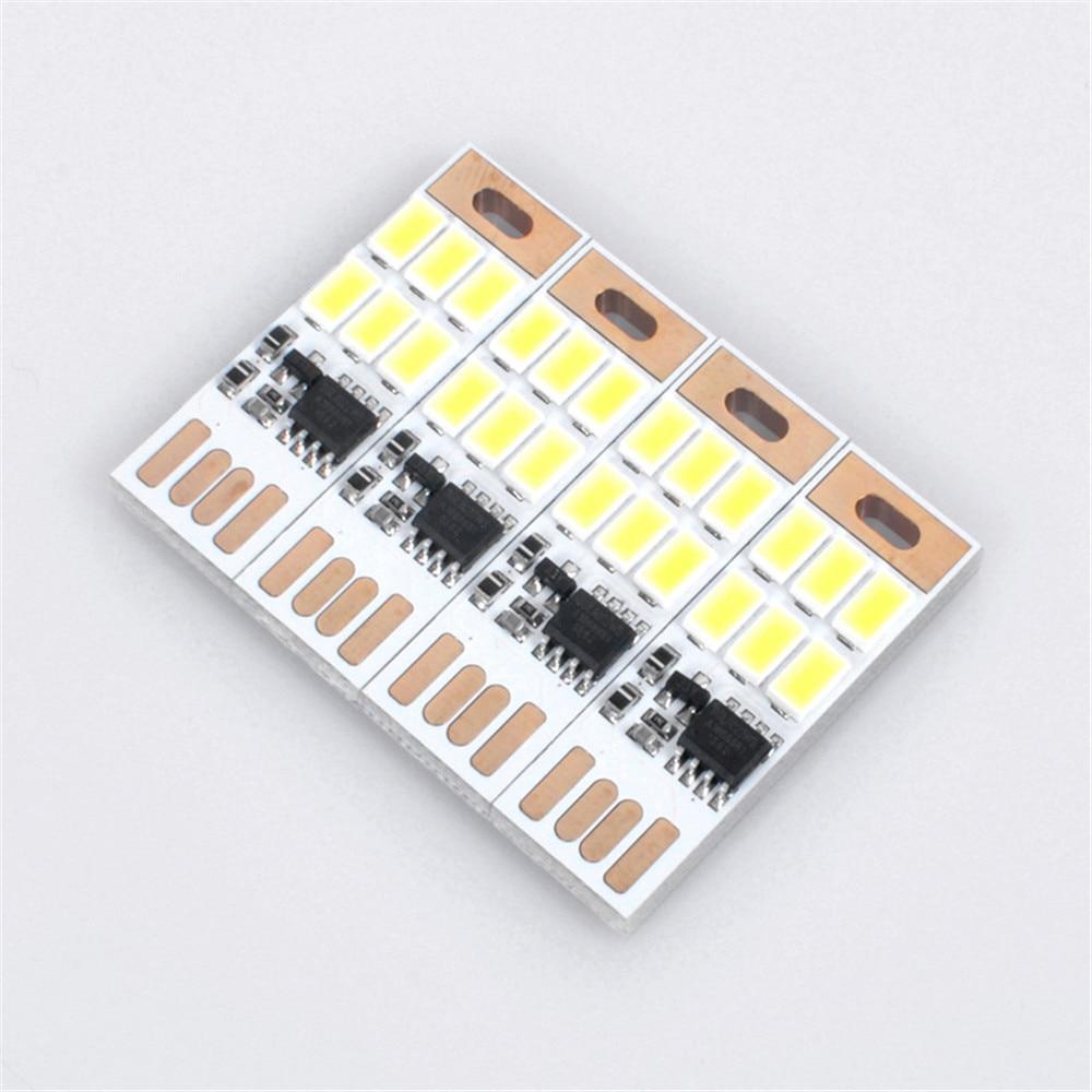 5 Pc Mini Usb Luz De Noche 6 Led Lámpara Portátil 5 V Touch Dimmer O Sensor De Luz Para Banco De Energía Ordenador Portátil úLtima TecnologíA