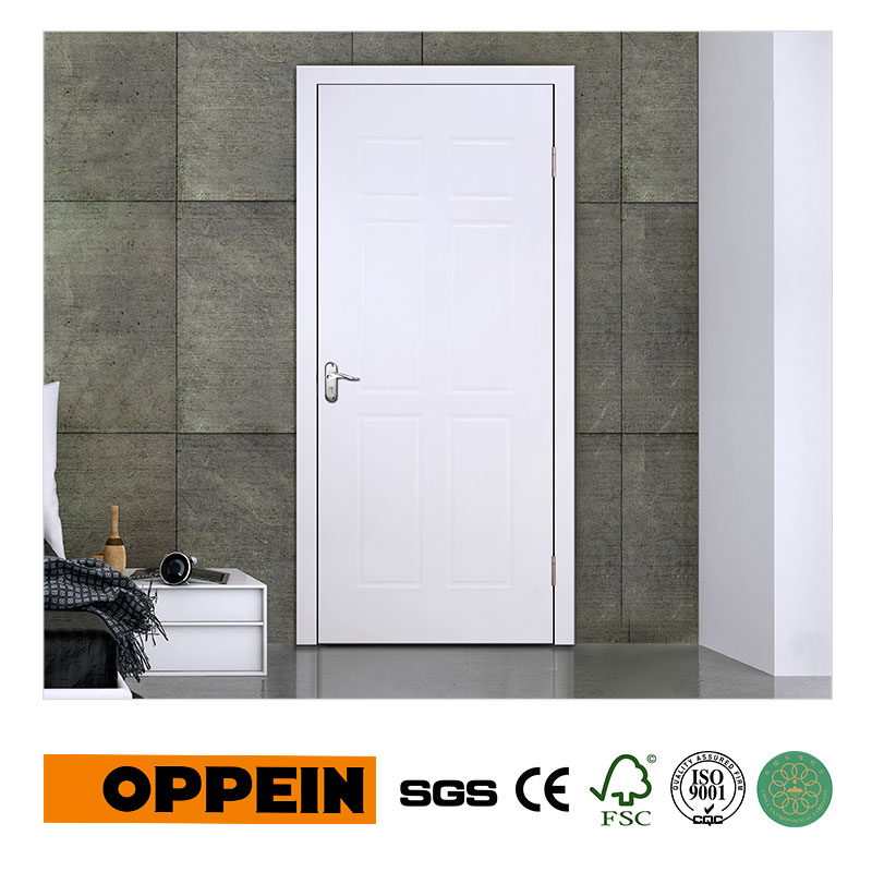 Guangzhou Manufacturer Wholesale White MDF Interior Door With Simple Design P609