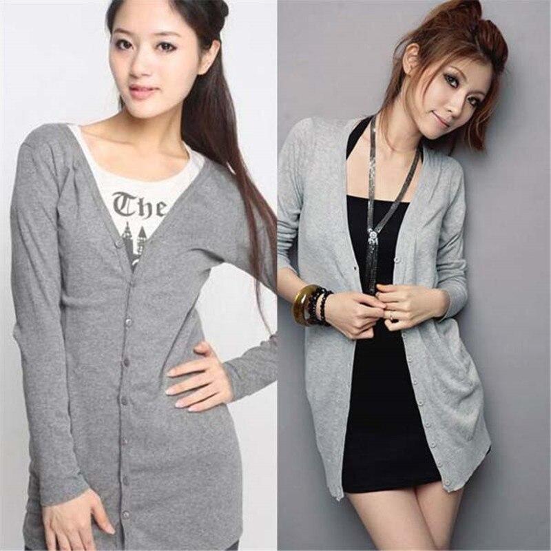 Popular Brand Women Casual Jumper Cardigan Long Coat Jacket Sweater Long Sleeve Knitwear S72 Luxuriant In Design