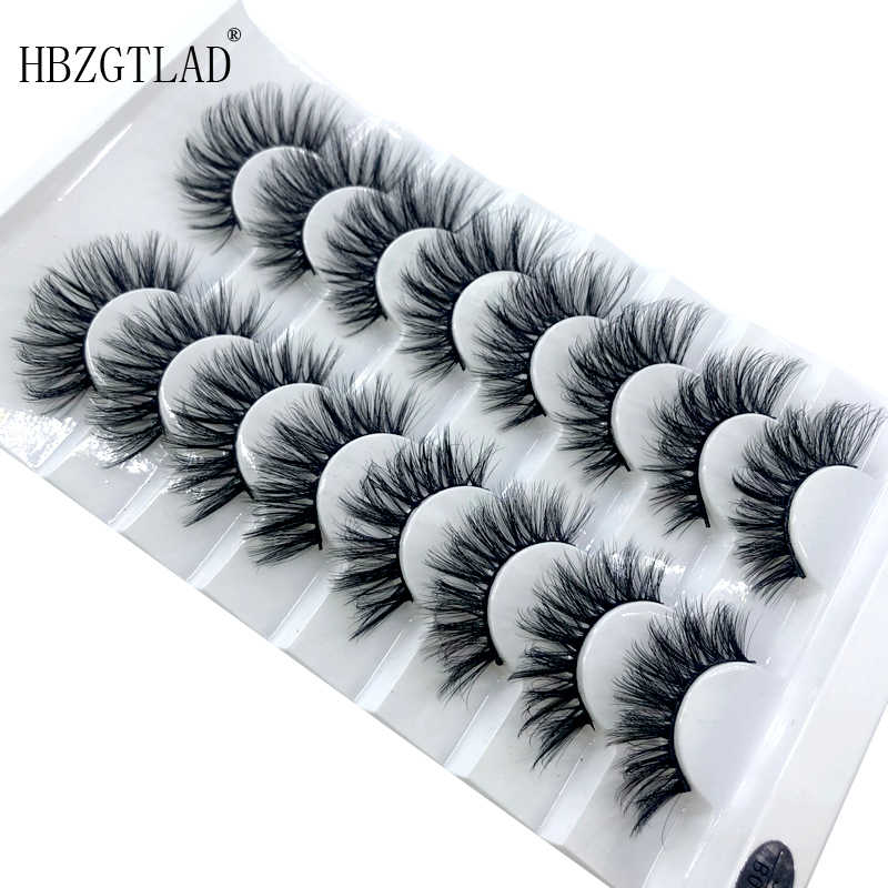 HBZGTLAD 8/20 Pairs 3D Mink Hair False Eyelashes Natural/Thick Long Eye Lashes Wispy Makeup Beauty Extension Tools