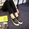 Free shipping spring Carrefour casual shoes a pedal canvas shoes women flat shoes