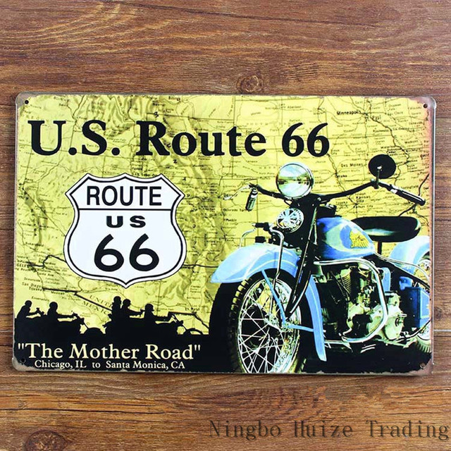 HZ059 The Mother US Rode route 66 vintage metal painting retro metal ...