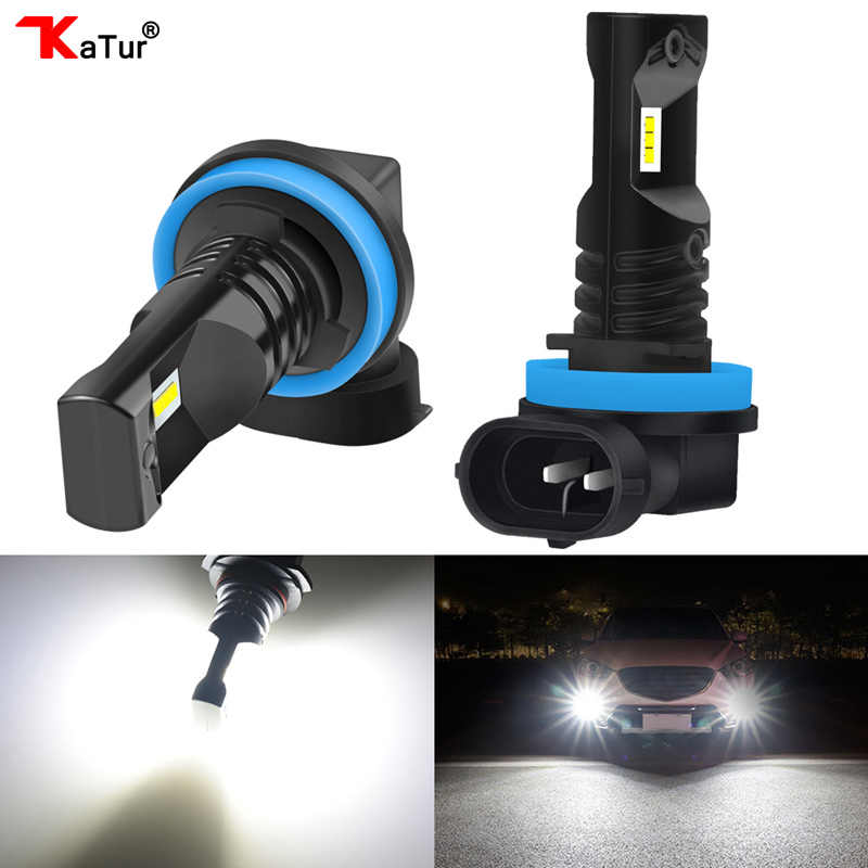 Katur 2pcs H16 H11 Led Bulb For Fog Lights 9006/HB4 9005/HB3 H1 H3 H4 H7 H8 PSX24W 880 Led Car Lights Driving Lamp H27W 881 Bulb