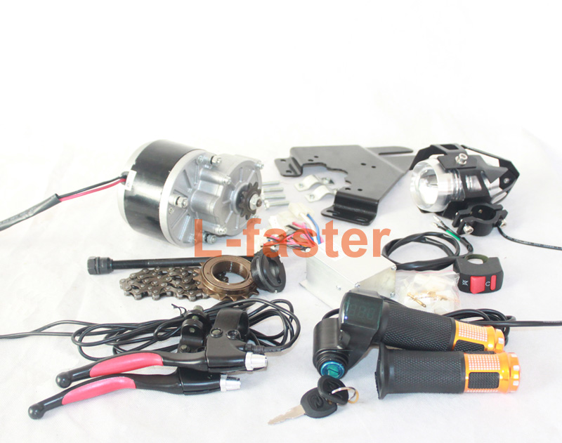 24v economic electric bicycle conversion kit with high for Dc motor light led