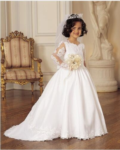 lace   Flower     Girl     Dresses   For Weddings ball gown 2018 Tank Real Party first communion   dresses   for   Girls   Kids/Children   Dress