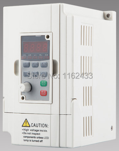 D5M-2.2S2-1A <font><b>2.2KW</b></font> 220V single phase to three phase AC VFD <font><b>spindle</b></font> <font><b>inverter</b></font> 400Hz variable frequency drive image