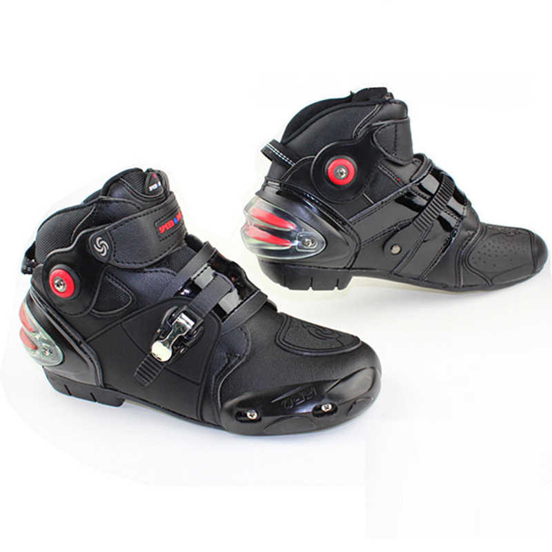 Professionale velocità bikers Stivali Da Moto In Pelle Microfibra Impermeabile Moto Scarpe Uomo Moto Racing Stivali Motocross scarpe