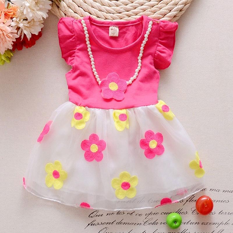 b827b788b1 Letnie dziewczyny dziecięce ubranka dla dzieci bez rękawów drukowane gaza  dress dla dziewczynek odzież marki bawełna księżniczka party tutu sukienki