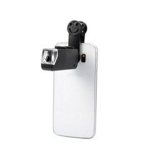 Image 3 - 60 100X Zoom Handy linsen Mikroskop Universal Lächeln Clip Lupe Kamera Objektiv für Samsung Galaxy S8 S7 Iphone 7 6 6S 5
