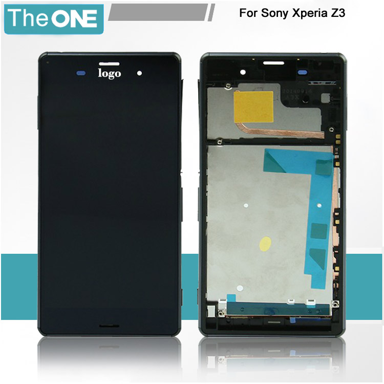 ФОТО For Sony Xperia Z3 Full LCD Display Touch Screen Digitizer Assembly with frame Free shipping