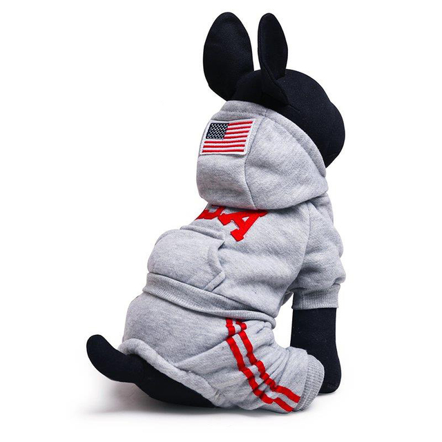 6b39942f84e5 Hot Sale 100%Cotton Pet Dog Apparel Winter And Autumn USA Sport Dog  Costumes For