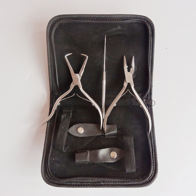 Wholesale sainless steel plier ket set! High-grade Hair extension tool set, hair extension pliers set