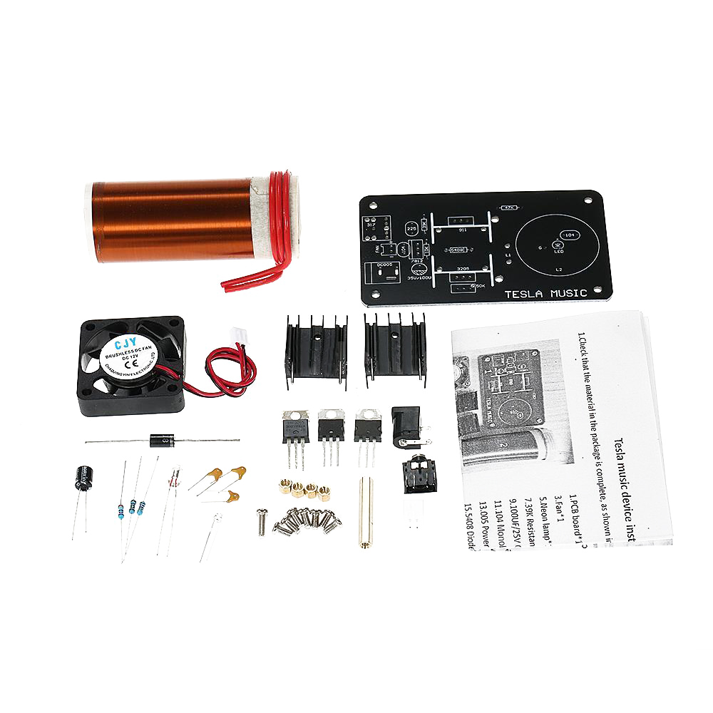 (tropfen Verschiffen) Diy Musik Tesla Spule Plasma Lautsprecher Kit Drahtlose Übertragung Modul D1v0