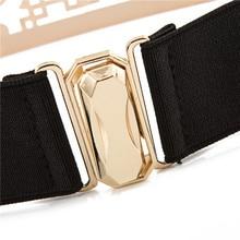 New Elastic Metallic Gold Bling Belt