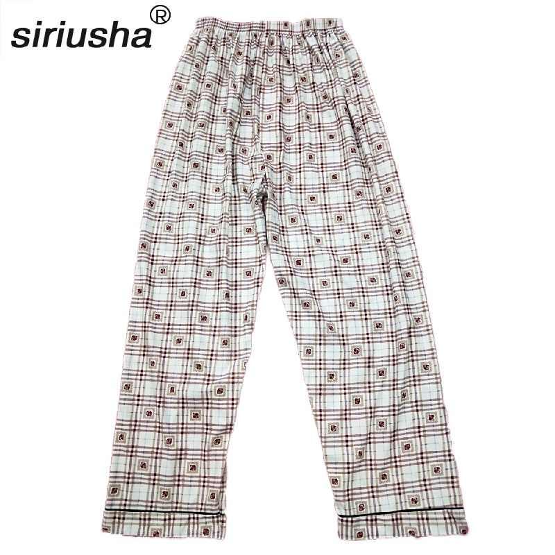 9315a7e9152fa Для мужчин с одного куска длиной сна брюки свободные Термальность хлопковые  домашние брюки для увеличения удобрений
