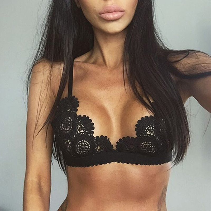 2018 New Womens Sexy Lingerie Set Hot Erotic Push Up Lace Open Bras Bralette Floral Women Underwear Set Sex Clothes image