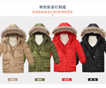 2016 new children suit boys and girls thick down jacket and long sections piece ski suits