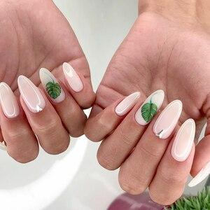 Image 3 - 1sheet Tropical Plant Leaf Greenery Monstera Flamingo Nail Adhesive Sticker Nail Art Wrap Style Sheets