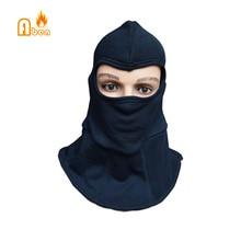 Кевларовая двухслойная утолщенная огнеупорная огнестойкая маска для лица, шейный колпак, головной убор пожарного, капюшон пожарного