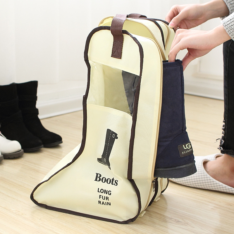 Portable Big Shoe Storage Bags Hanging Closet Cabin Shoe Cover Boot  Organizer Sack Zipper Container Boot Protector Bag For Shoes In Storage  Bags From Home ...